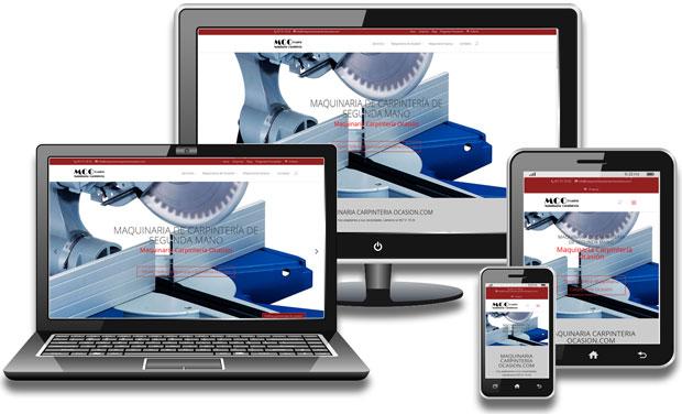 Web de Maquinaria de Carpintería de Segunda Mano Responsive.